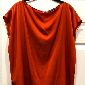 Vince orange silk top